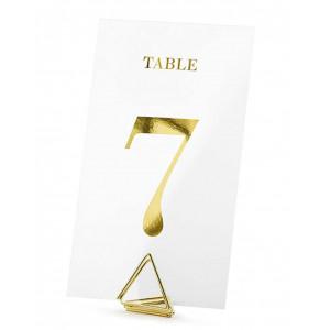 Placeringskort Bordsnumrering, guld - PartyDeco