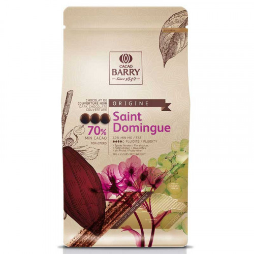 Saint Domingue Chokladknappar 70 % kakao - Couverturechoklad