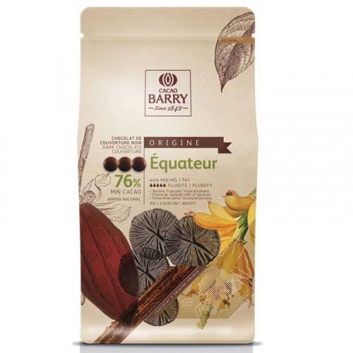Equateur Chokladknappar 76% kakao - Couverturechoklad