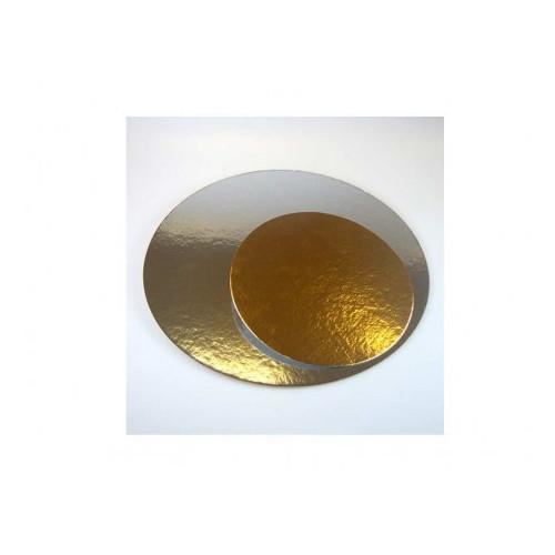 10-pack tårtbrickor guld och silver 16 cm