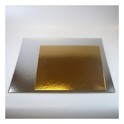 10-pack tårtbrickor guld och silver kvadratisk 30 cm
