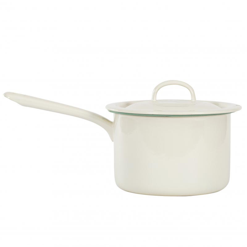 Pot with handle 2,3 l cream lux - Kockums Jernverk