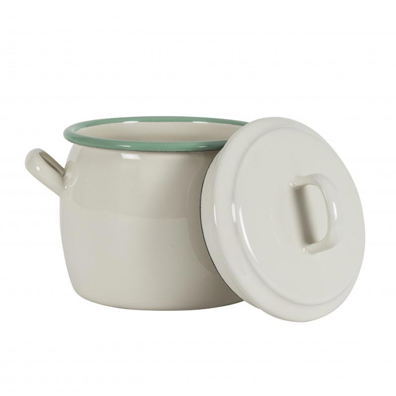 Bellied Pot 0,7L, cream lux - Kockums Jernverk