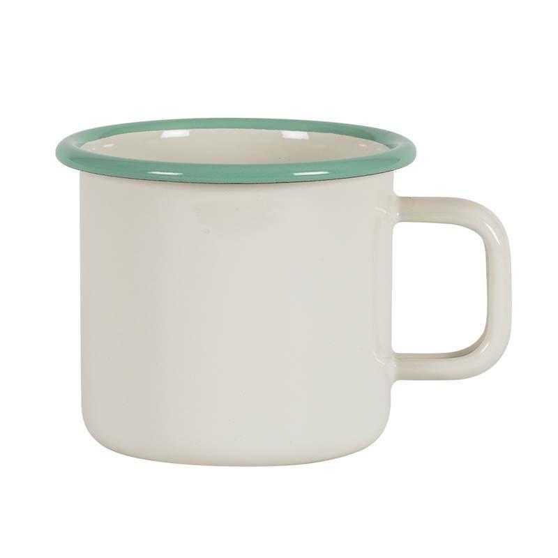Mug 8 cm, emaljerad mugg, cream lux - Kockums Jernverk