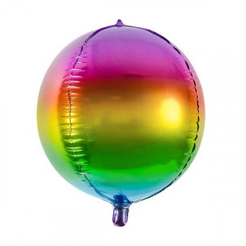 Folieballong Rund Regnbåge - PartyDeco