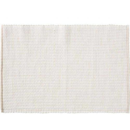 Bordstablett i bomull Vit, 33 x 48 cm