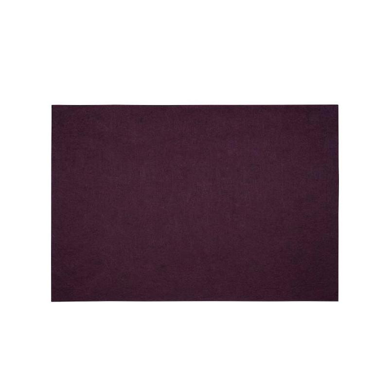 Bordstablett i polyester plommon, 33 x 48 cm