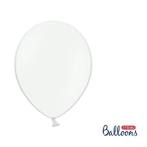 Ballonger Pastell Vit, 30cm, 10st - PartyDeco