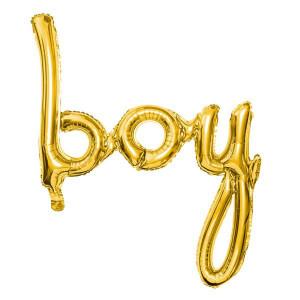 Folieballong Boy, Guld - PartyDeco