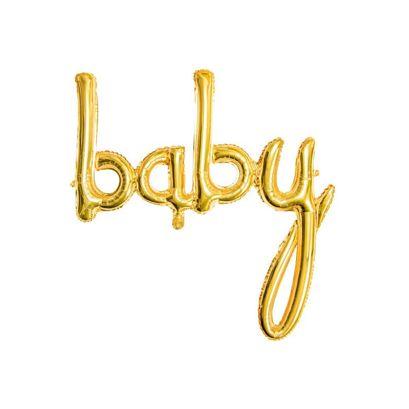 Folieballong Baby, Guld - PartyDeco