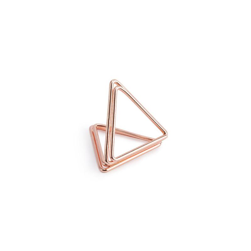 Bordsplaceringshållare Triangel, Roséguld - PartyDeco