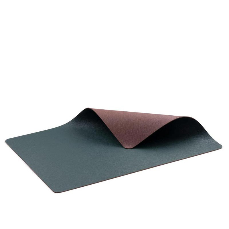 BITZ Bordstablett vändbar 4st, Mörkgrön/Mörkbrun