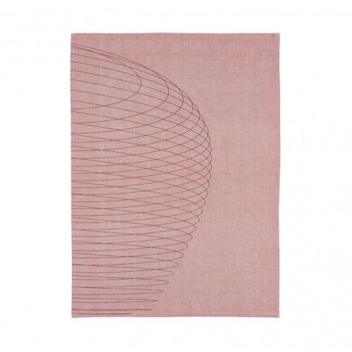 Kökshandduk 50x70 cm, Dry Art Circles, Röd
