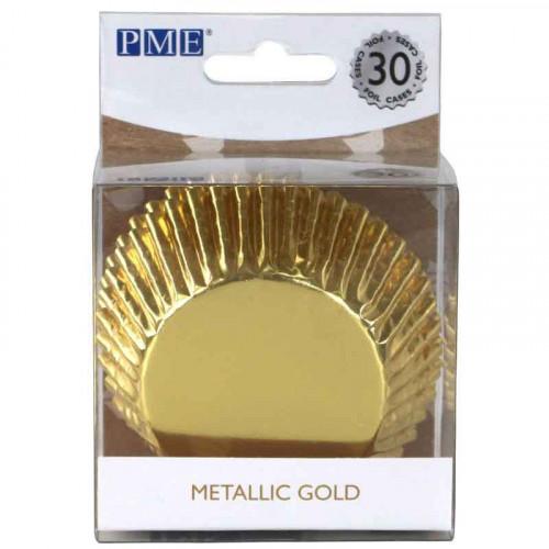 Muffinsform Metallic Guld - PME