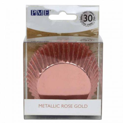 Muffinsform Metallic Roséguld - PME