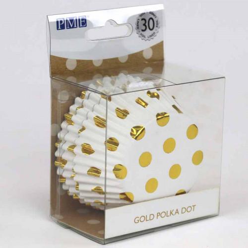 Muffinsform Polkadot Guld - PME