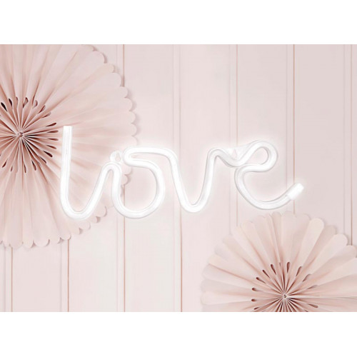 Neon LED Love, Vit - PartyDeco