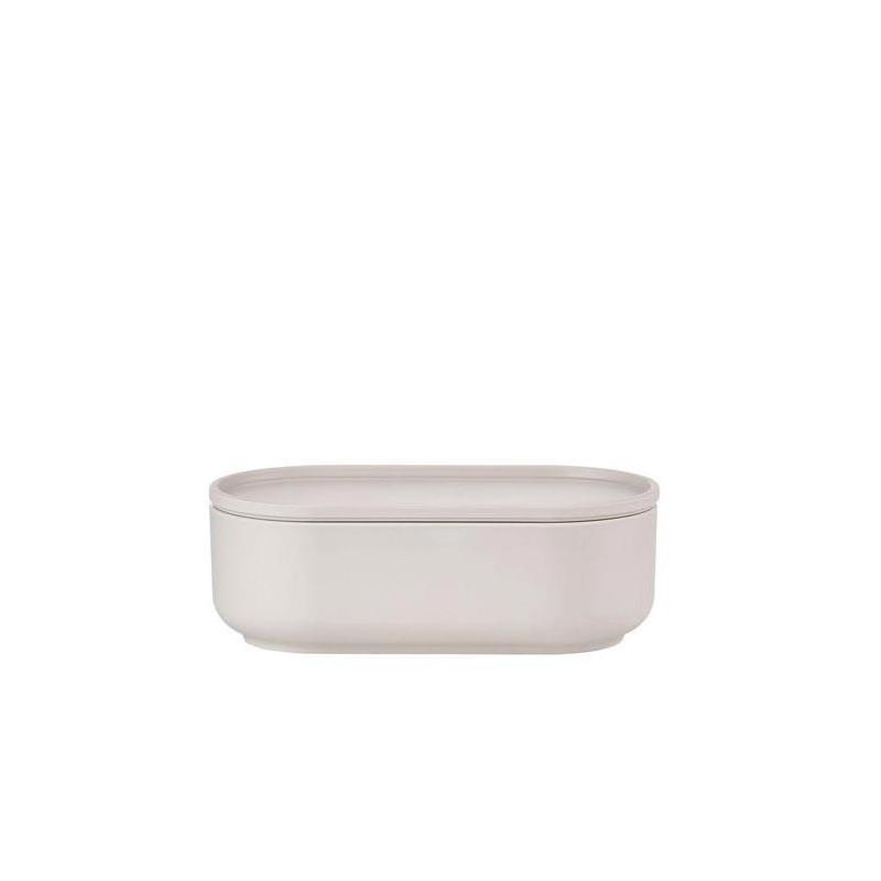 Skål med lock Oblong 0,6 liter, Ljusgrå - Peili