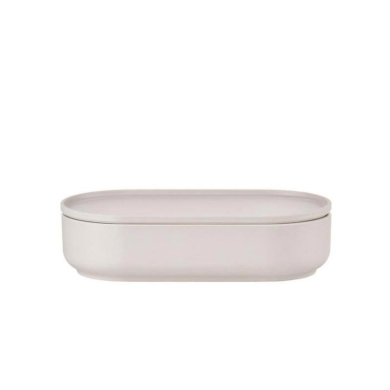 Skål med lock Oblong 1 liter, Ljusgrå - Peili