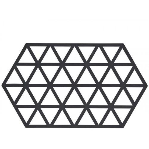 Grytunderlägg Triangle 24x14 cm, Black - Zone Denmark