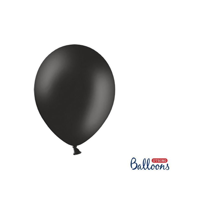 Ballonger Pastell Svart, 27 cm, 50 st - PartyDeco