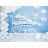 Ballonger Pastell Vit, 27 cm, 50 st - PartyDeco
