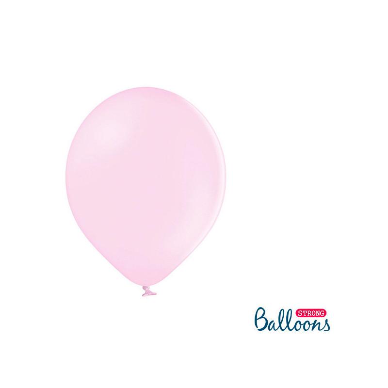 Ballonger Pastell Ljusrosa 27 cm, 100 st - PartyDeco