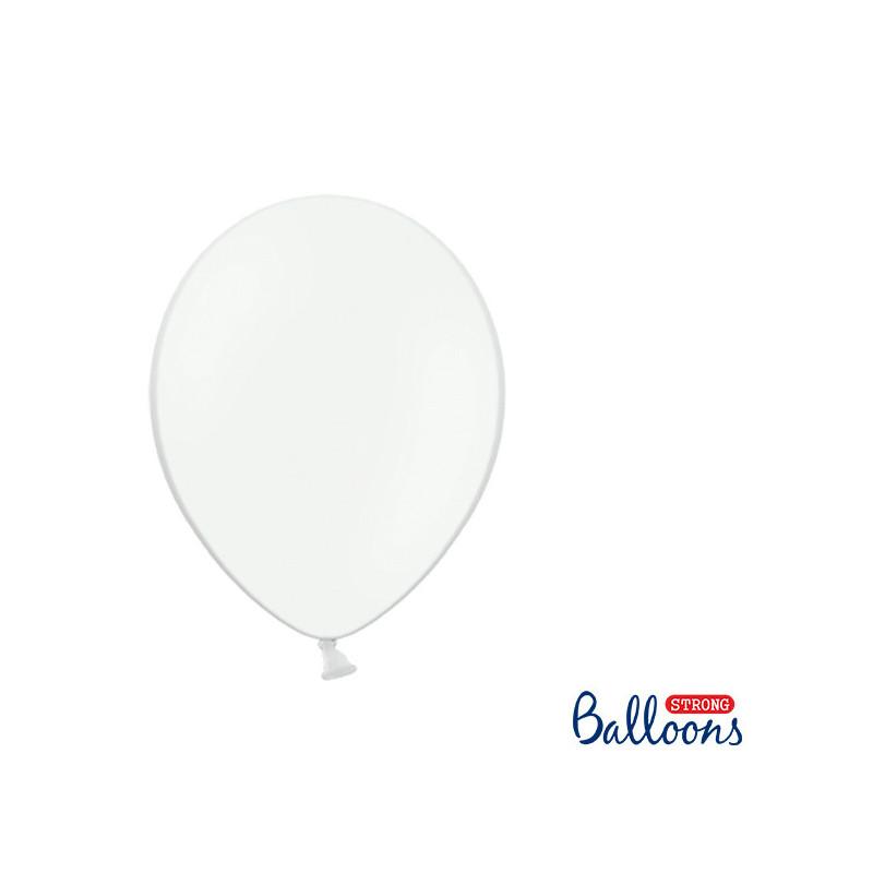 Ballonger Pastell Vit 27 cm, 100 st - PartyDeco