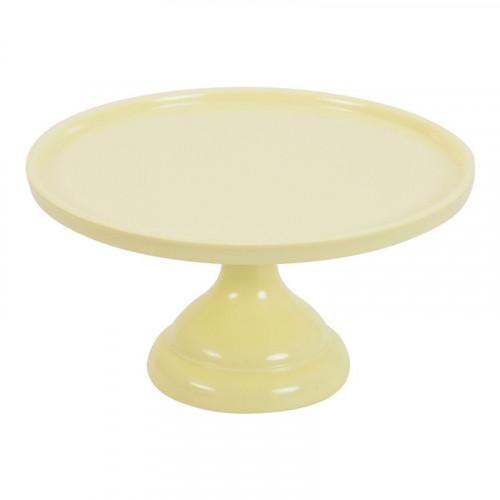 Tårtfat i melamin, gul 23,5 cm