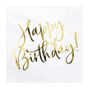 Servetter Happy Birthday - Partydeco
