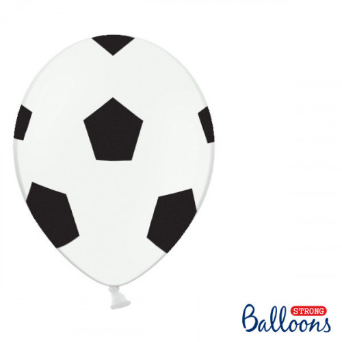 Ballonger Fotboll, 30cm, 10st - PartyDeco
