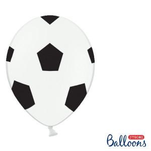 Ballonger Fotboll, 30cm, 6st - PartyDeco