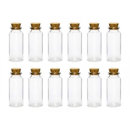 Små Glasflaskor i 12-pack - PartyDeco