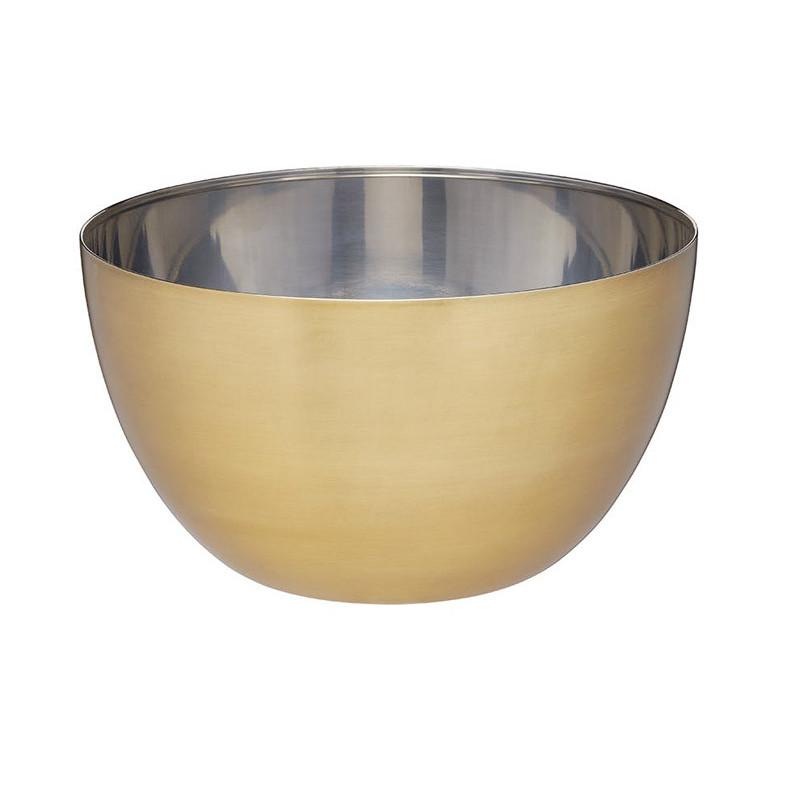 Skål Rostfritt stål 24 cm, mässingsfinish - MasterClass