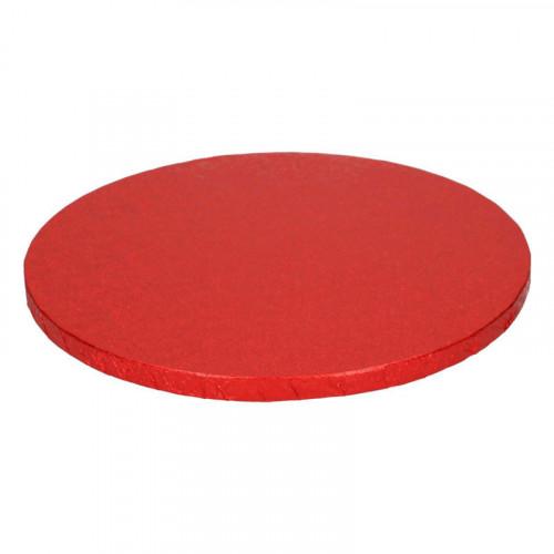 Röd tårtbricka, 25 cm - FunCakes