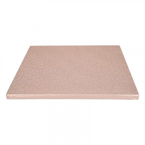 Tårtbricka roséguld kvadratisk 30,5 cm