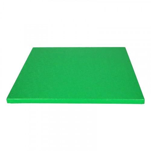 Grön tårtbricka kvadratisk 30,5 cm