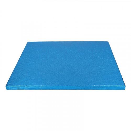 Blå tårtbricka kvadratisk 30,5 cm