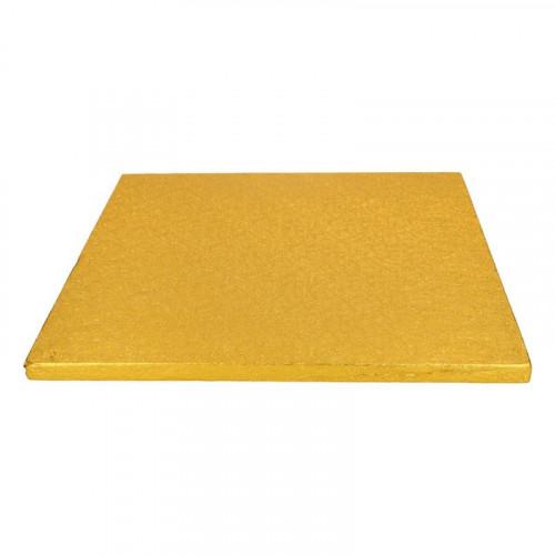 Tårtbricka guld kvadratisk 30,5 cm