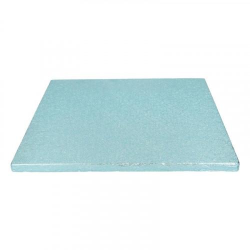 Ljusblå tårtbricka kvadratisk 30,5 cm