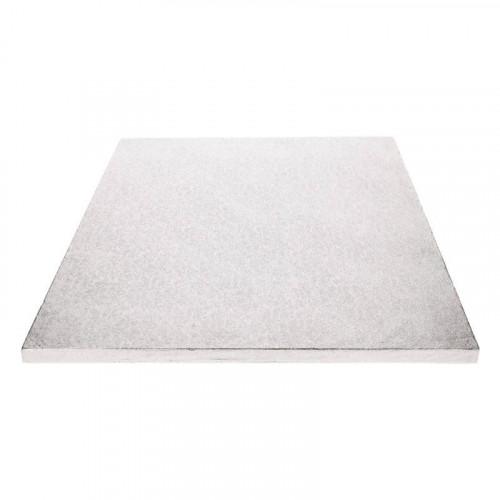 Tårtbricka silver rektangulär 40,5 x 30,5 cm