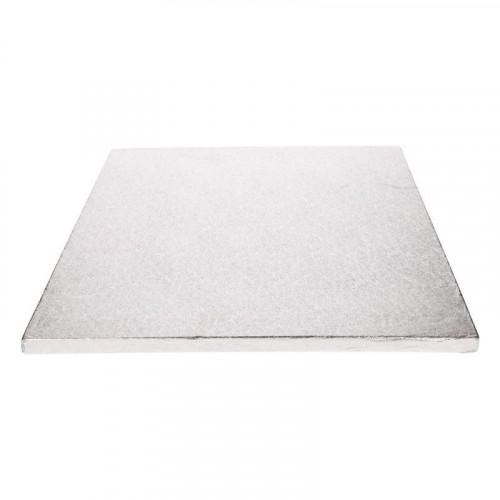 Tårtbricka silver rektangulär 35,5 x 30,5 cm