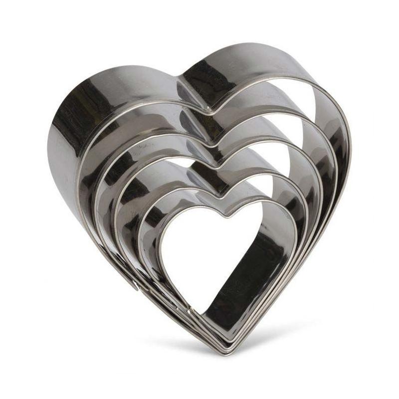 Pepparkaksformar hjärtan 5 st