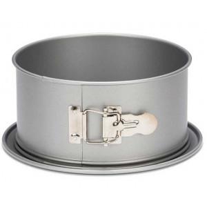 Springform med höga kanter 18 cm, silver