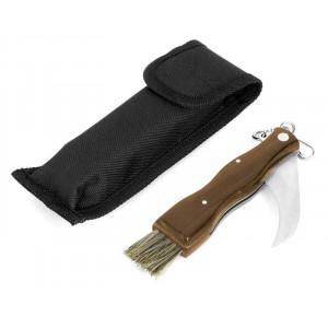 Svampkniv med borste, 14 cm