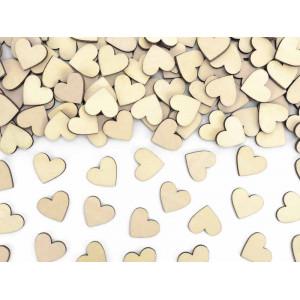 Konfetti hjärtan i trä - PartyDeco