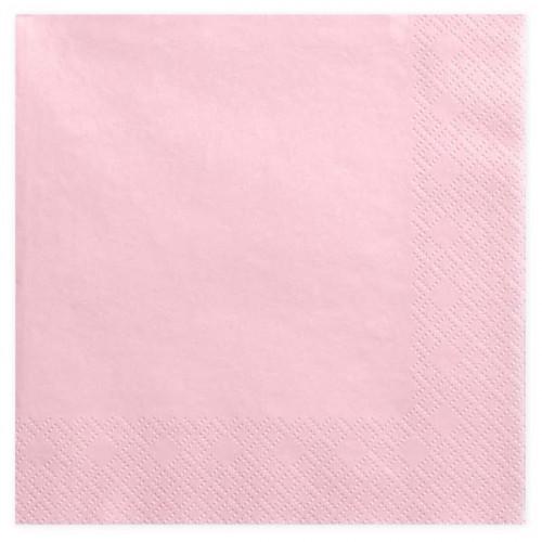 Stora rosa servetter - PartyDeco