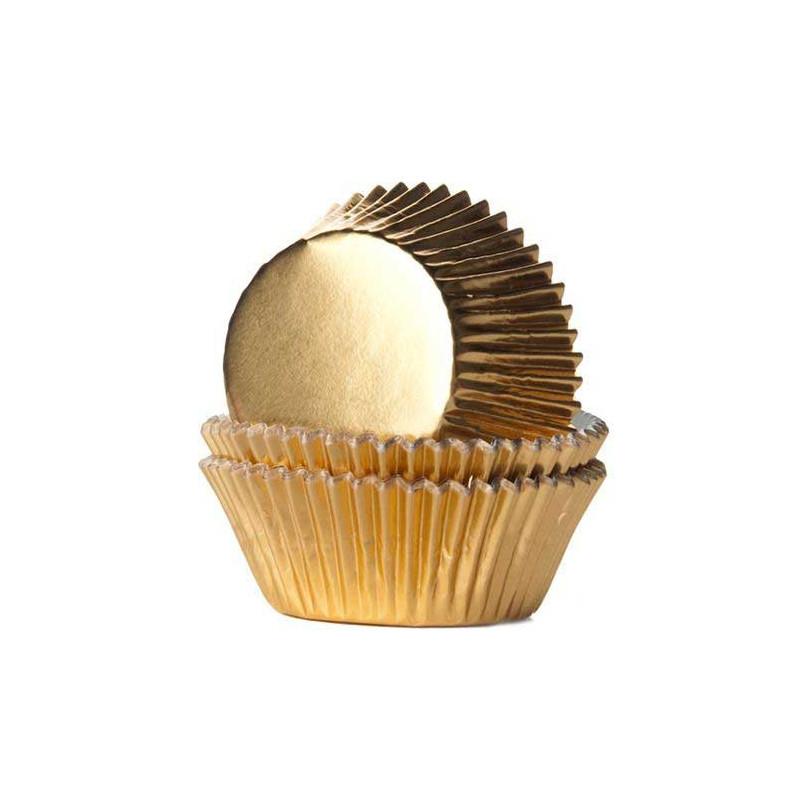 Muffinsform Guld Folie - House of Marie