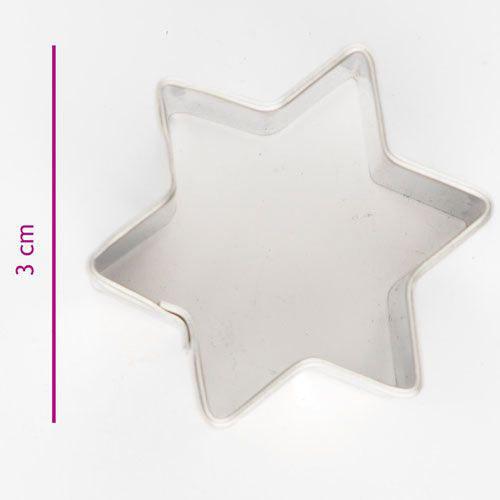 Pepparkaksform Stjärna 3 cm