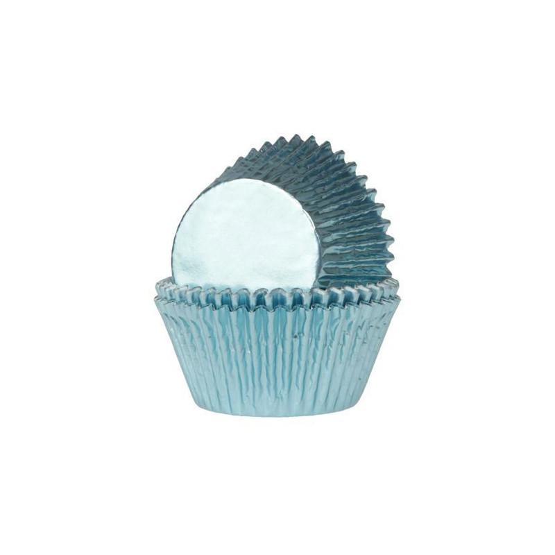 Minimuffinsform Babyblå Folie - House of Marie